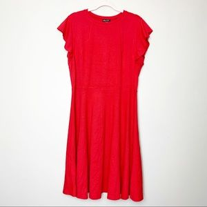 NWT City Chic XS 14 Red Knee Length Dress